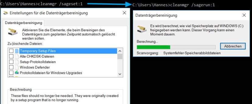 cleanmgr-windows-datentraegerbereinigung-automatisieren-set-run