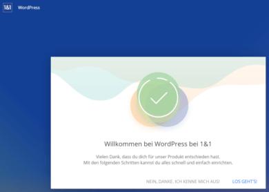 1und1 Webhosting 1und1-webhosting-test-2018-app-center-wordpress-backend