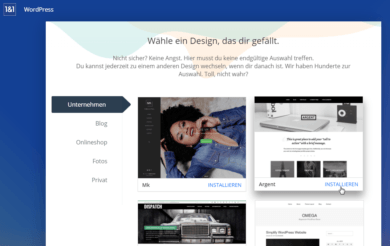 1und1 Webhosting 1und1-webhosting-test-2018-app-center-wordpress-theme