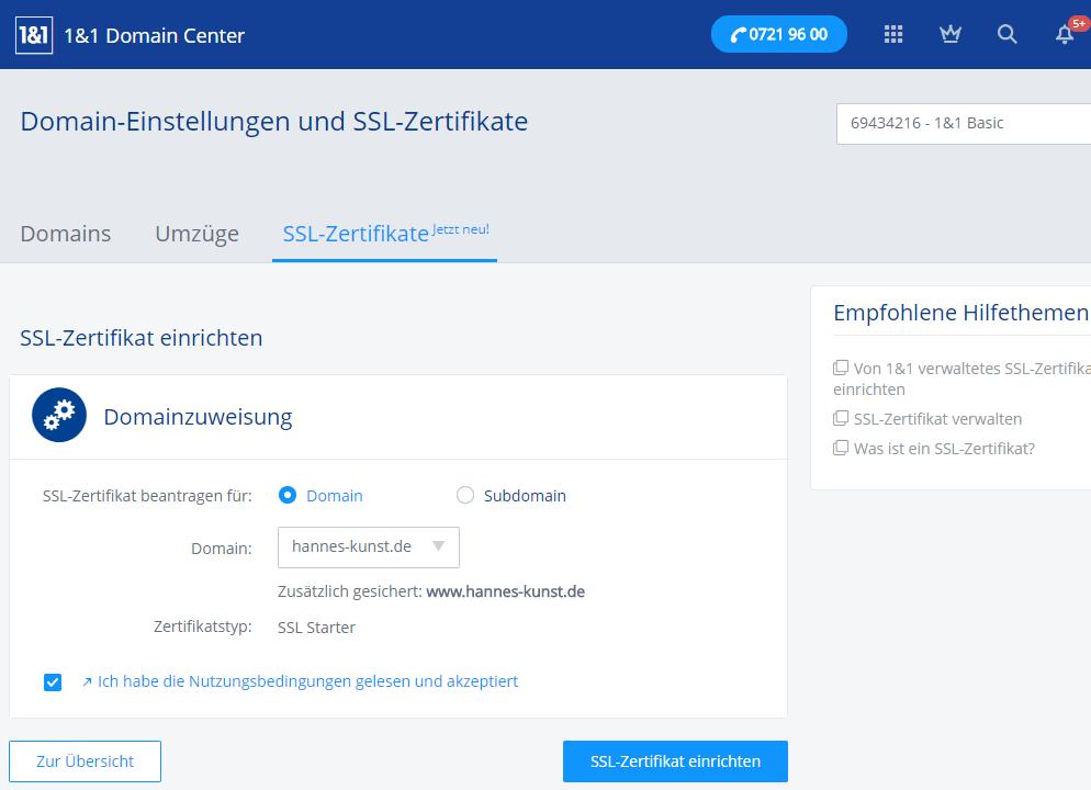 1und1-webhosting-test-2018-control-center-ssl-einrichten • IT-Stack.de