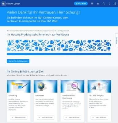 1und1 Webhosting 1und1-webhosting-test-2018-start