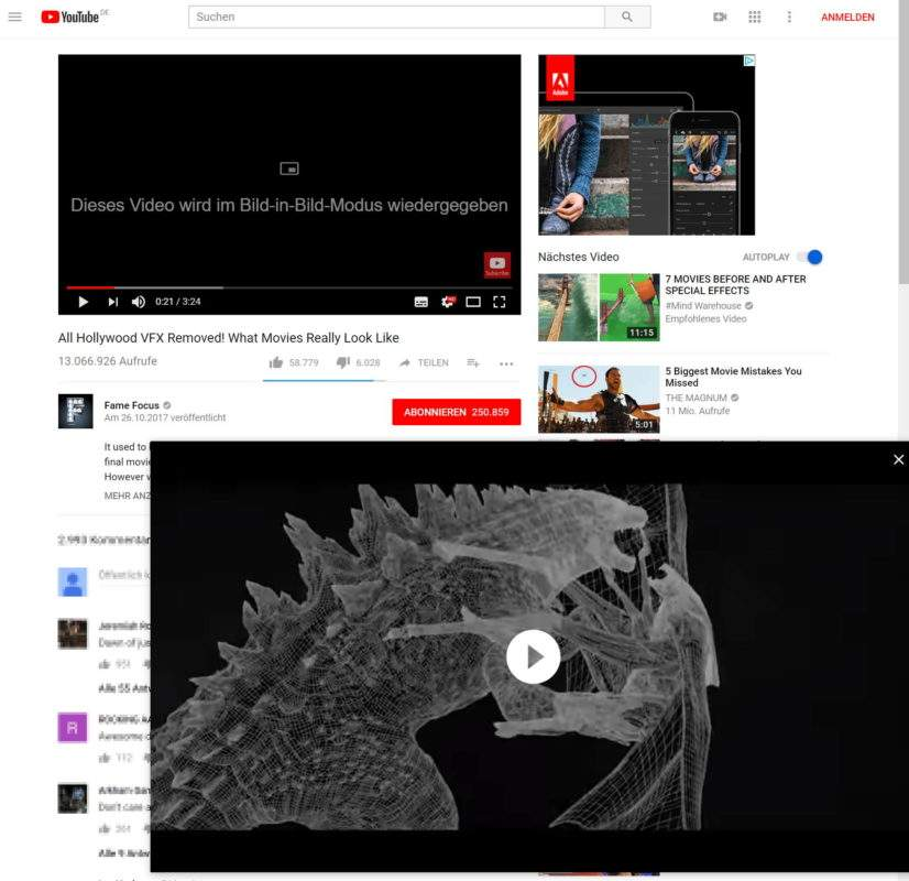 chrome-popups-werden-wiederbelebt-youtube-pip-bild-in-bild-test