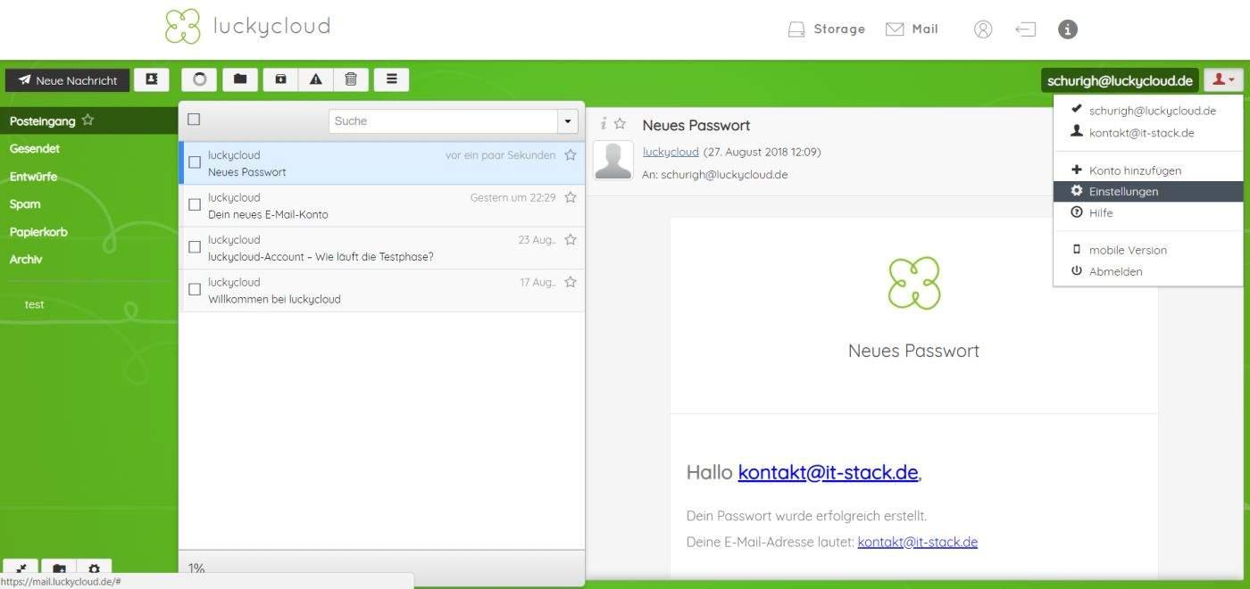 luckycloud-sicherer-deutscher-cloud-speicher-im-test-email-app