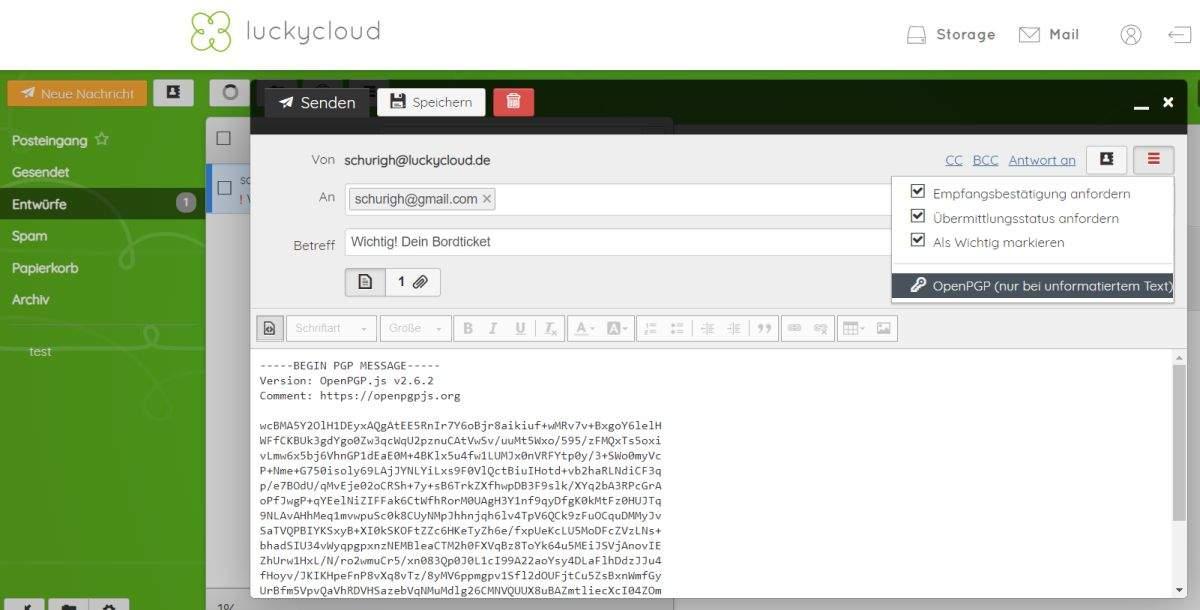 luckycloud-sicherer-deutscher-cloud-speicher-im-test-email-erstellen
