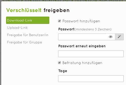 luckycloud-sicherer-deutscher-cloud-speicher-im-test-freigabeoptionen