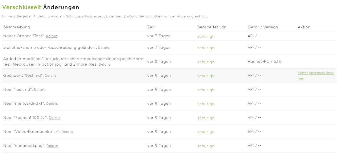 luckycloud-sicherer-deutscher-cloud-speicher-im-test-snapshots