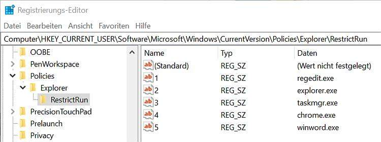 windows-restrictrun-start-whitelist-einrichten-regedit-konfigurieren