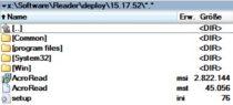 Das Bild zeigt die fertige Reader DC Deployment Installation im Deployment Share