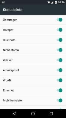 Android 6.0 System UI Tuner: Statusicons verändern
