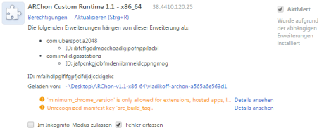 android-apps-im-chrome-ausfuhren-archon-extension-loaded