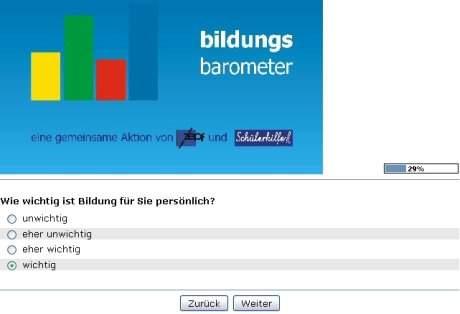 bildungsbarometer umfrage september Bildungsbarometer   September Umfrage