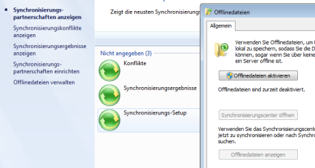 disable windows 7 offlinefiles sync offlinedateien 460x245 Windows Offline Dateien deaktivieren per Skript im AD