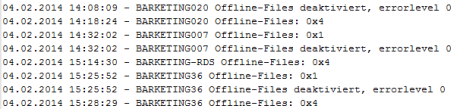 disable windows 7 offlinefiles sync offlinedateien log 460x109 Windows Offline Dateien deaktivieren per Skript im AD