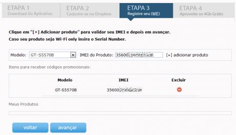 dropbox 2gb mehr samsung imei1 460x265 Dropbox verschenkt erneut Speicher: 2GB als brasilianischer Samsungbesitzer... oder mit Trick