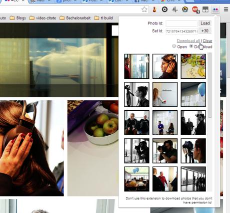 flickr downloader downflickr download 460x427 Mehrere Flickr Fotos oder ganze Alben herunterladen
