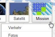 google maps mission ansicht modus button Google Maps im 8 bit Adventure Modus