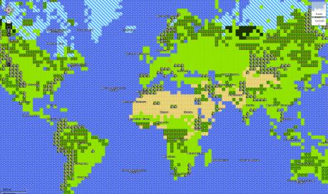 google maps mission ansicht modus welt 460x272 Google Maps im 8 bit Adventure Modus