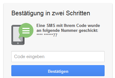 google-password-2-way-authentication-code
