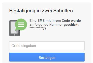 google-password-2-way-authentication-code