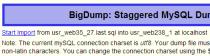 große datenbanken importieren bigdump process start 210x56 Große Datenbanken in MySQL importieren mit BigDump