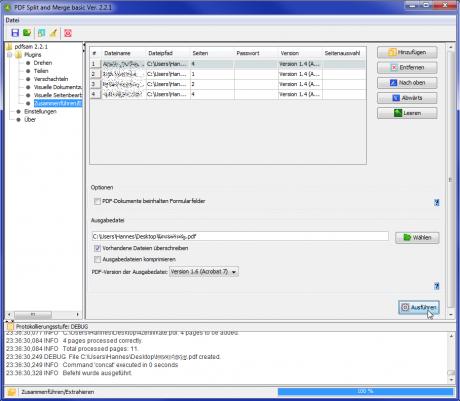 mehrere pdf dateien kombinieren mergen zusammenführen pdfsam 460x401 mehrere PDFs zusammenführen   online oder mit Freeware