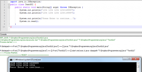 notepad++ java kompilieren run in external windows cmd console 460x234 Java #0   Konsolenanwendungen mit Notepad++ schreiben und testen   internal vs external Console