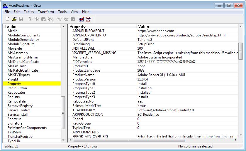 Adobe reader msi paket download