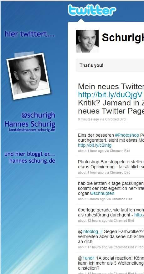schurigh neues twitter design neues Twitter Design