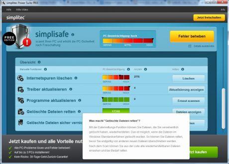 simplitec pc helper optimizer hilfe 460x330 Test: simplitec Power Suite   PC aufräumen, optimieren und Probleme lösen