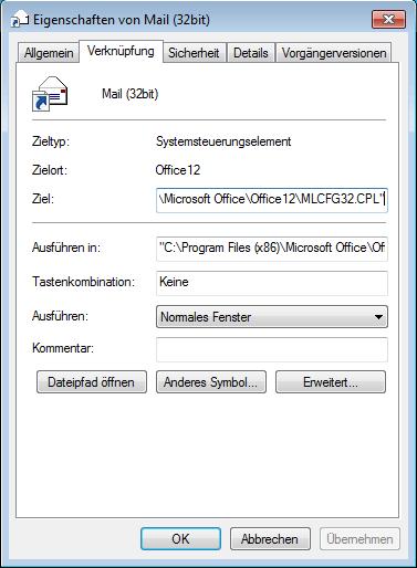 systemsteuerung-mail-32bit-funktioniert-nicht-shotcut