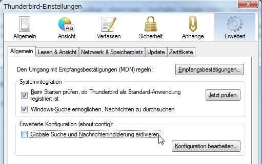 thunderbird email konto exportieren