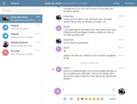 Das Bild zeigt den Telegram Messenger in seiner vollen Pracht