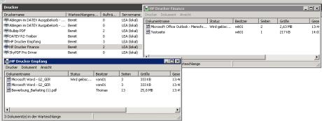 windows druckerproblem dokument wird nicht gedruckt 460x173 Netzwerkdrucker Probleme   Druckaufträge hängen sich und den Drucker komplett auf