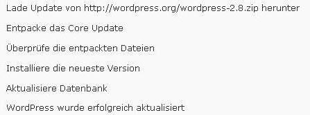 wordpress-2.8-erster-eindruck-updatefinished