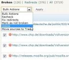 wordpress broken links tester bulk actions 140x122 Wordpress Broken Links Checker Plugin   Tipp für alle Blogger
